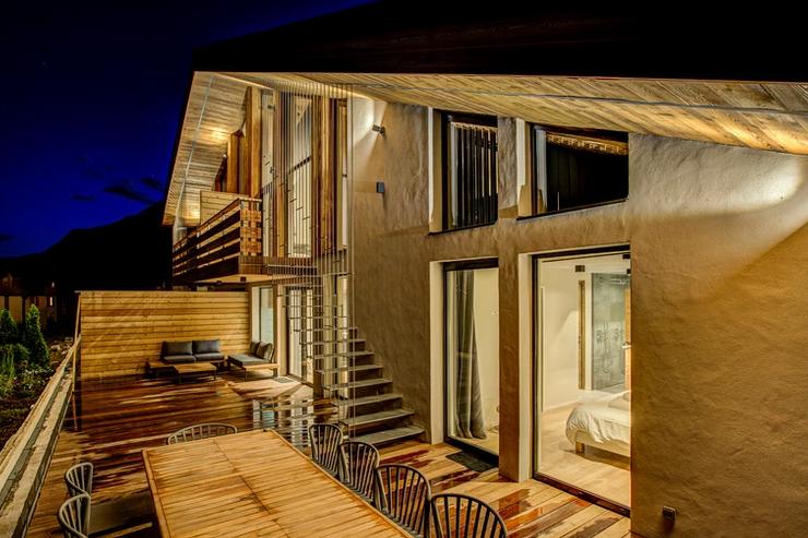 Chamonix Luxury Rental Chalet Coradi Terrace
