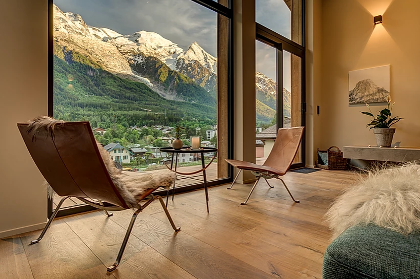 Chamonix Luxury Rental Chalet Coradi Mountain View