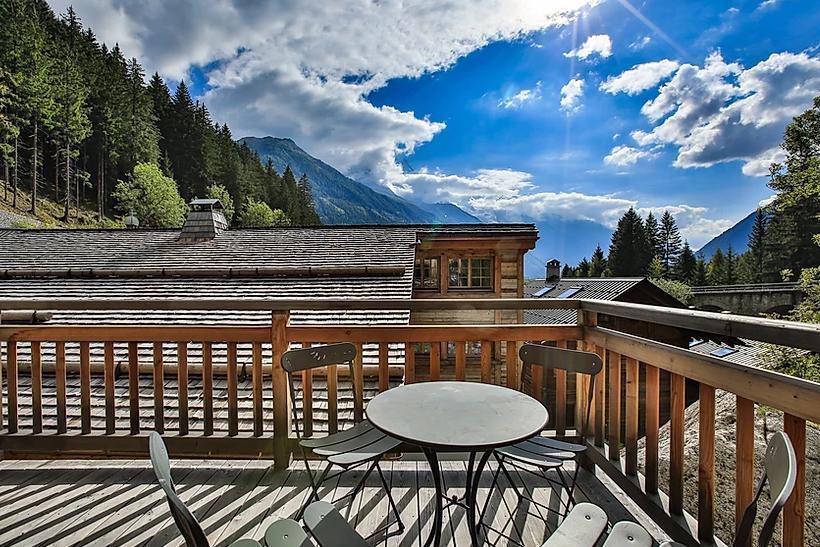 Chamonix Location Chalet Luxe Coraudin Terrasse