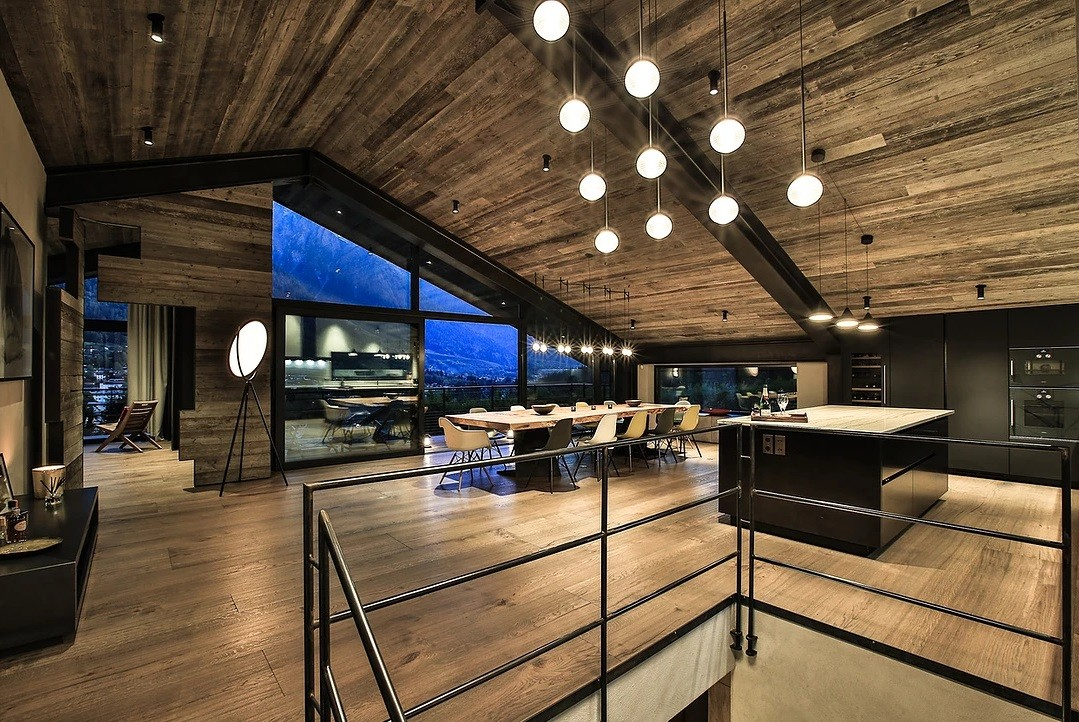 Chamonix Location Chalet Luxe Cotarix Salon
