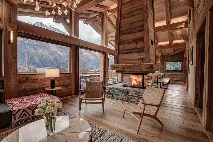 Chamonix Luxury Rental Chalet Courose Living Room 3