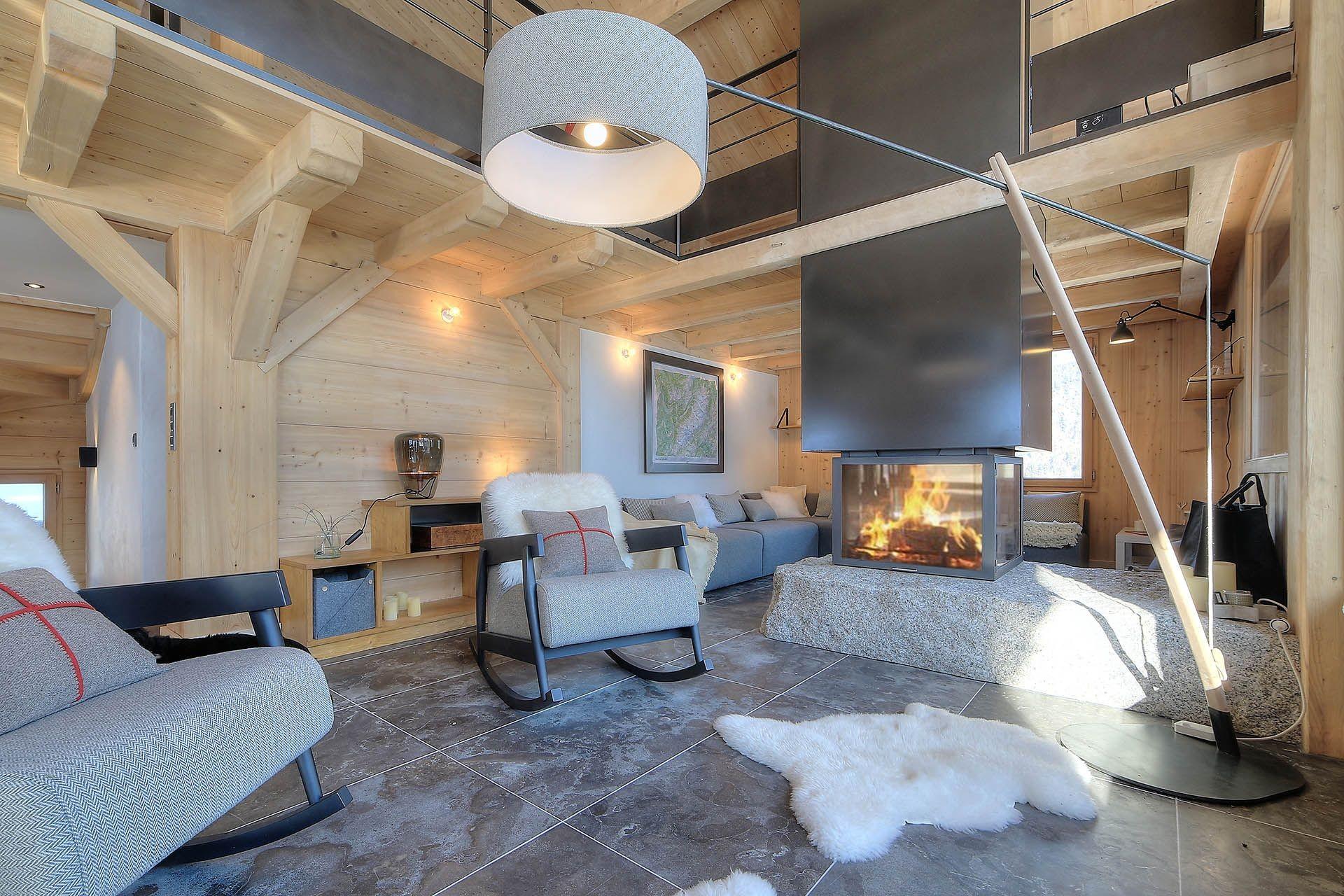 Chamonix Location Chalet Luxe Palambri Salon