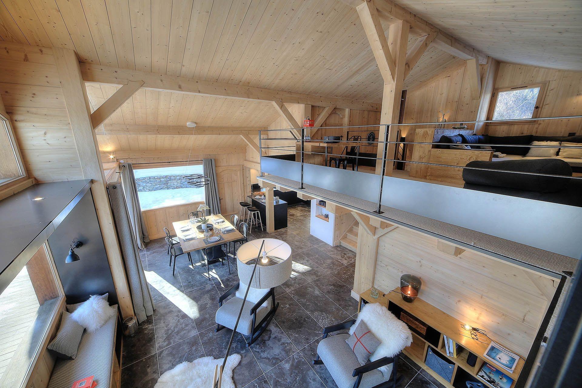 Chamonix Location Chalet Luxe Palambri Séjour