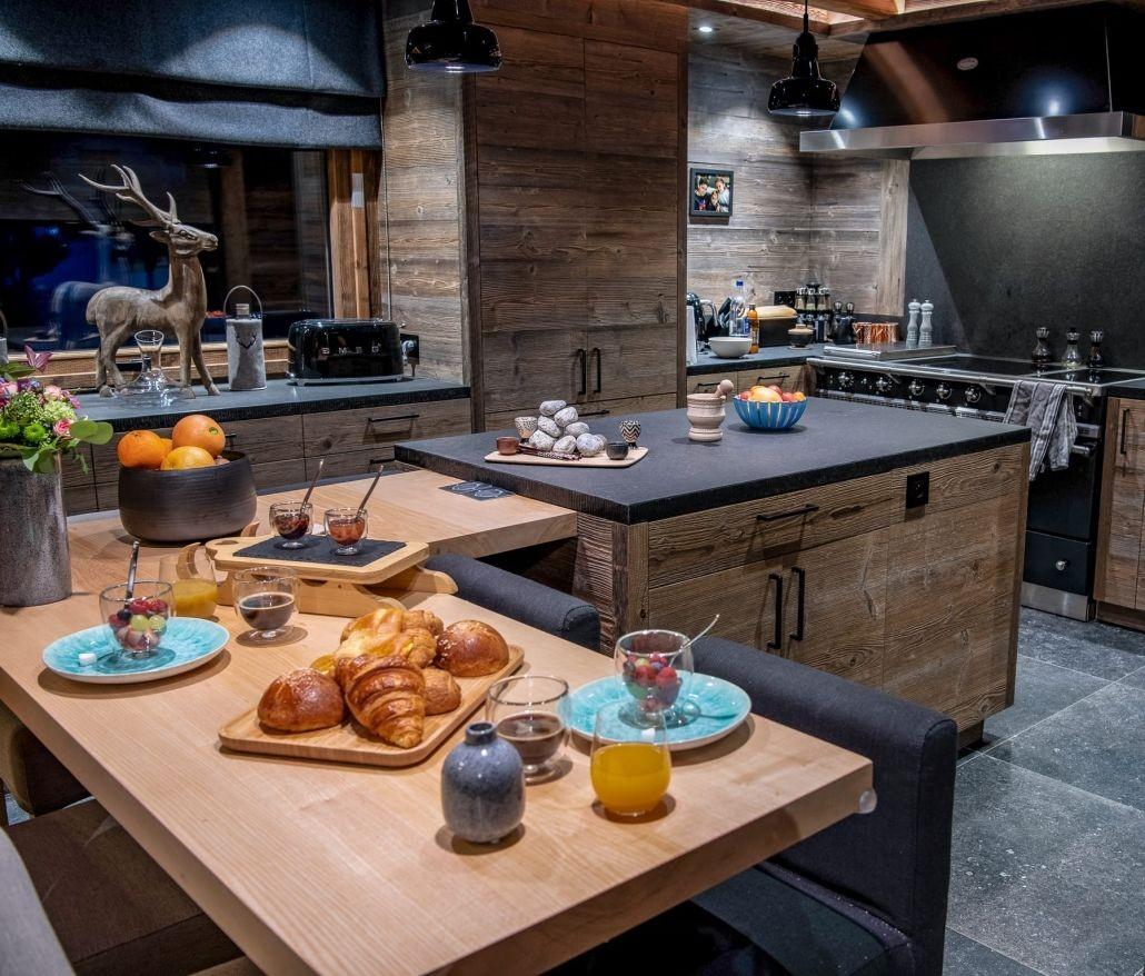 Chamonix Location Chalet Luxe Palambro Cuisine