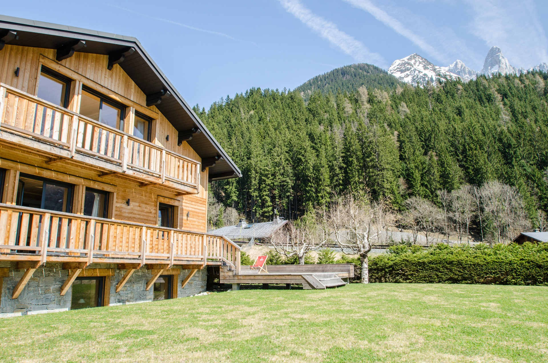 Chamonix Location Chalet Luxe Silène Jardin