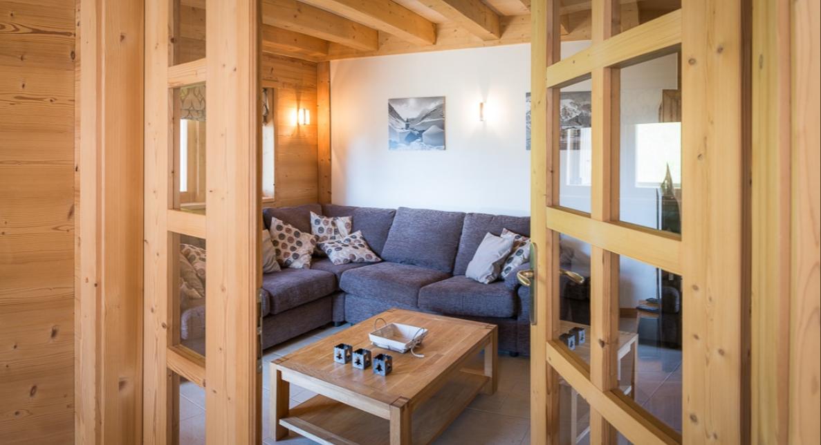 Chatel Luxury Rental Chalet Chalcocyanite Living Area