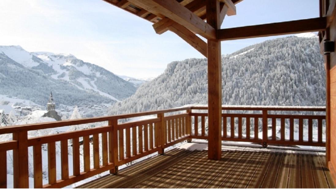 Chatel Luxury Rental Chalet Chalcocyanite Terrace