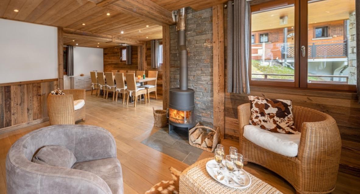 Chatel Luxury Rental Chalet Chambera Living Area 2
