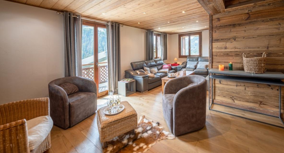 Chatel Luxury Rental Chalet Chambera Living Area