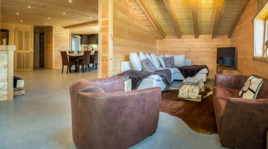Chatel Luxury Rental Chalet Chapa Living Area 5