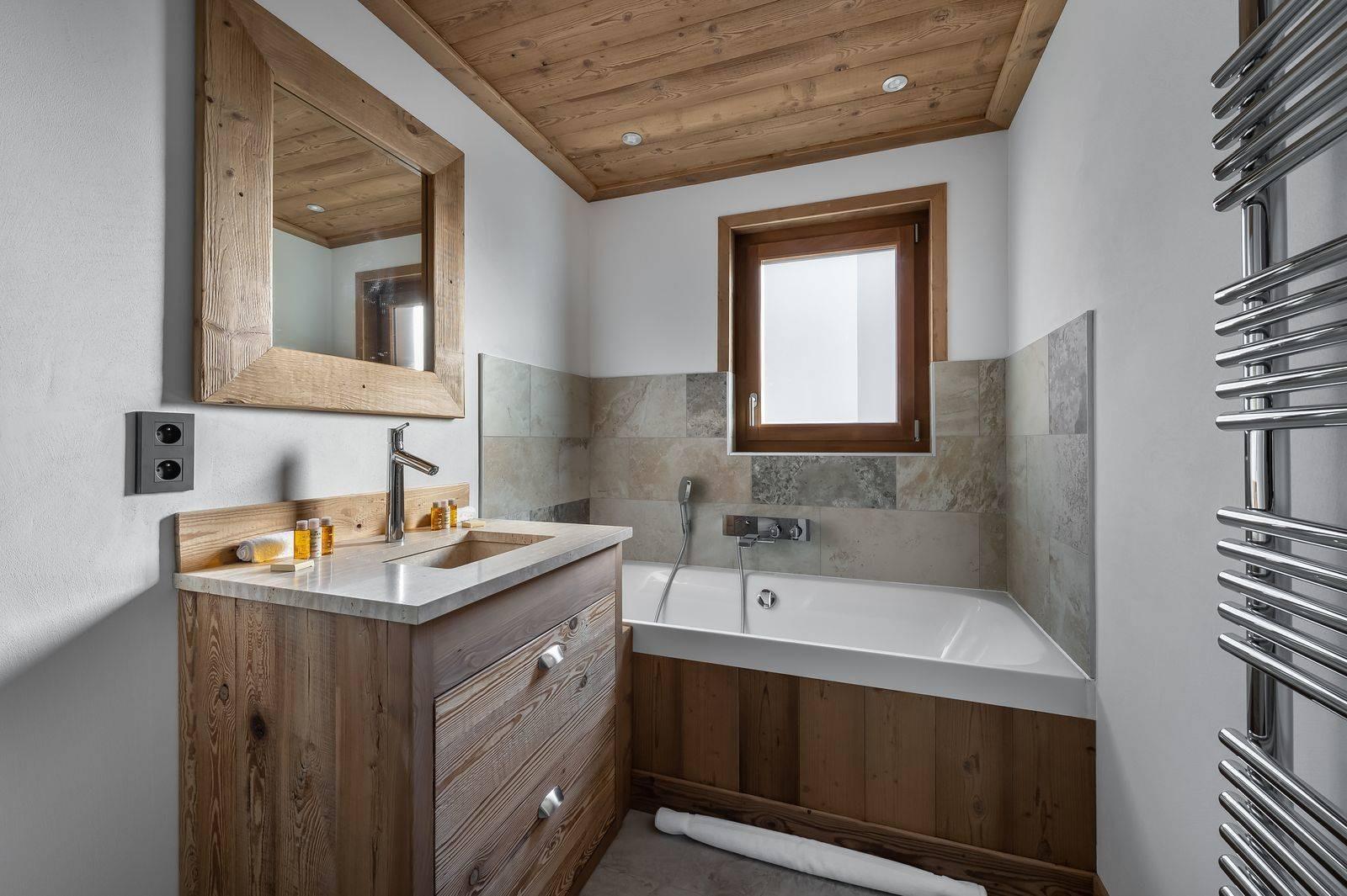 Courchevel 1300 Luxury Rental Appartment Tilanche Bathroom