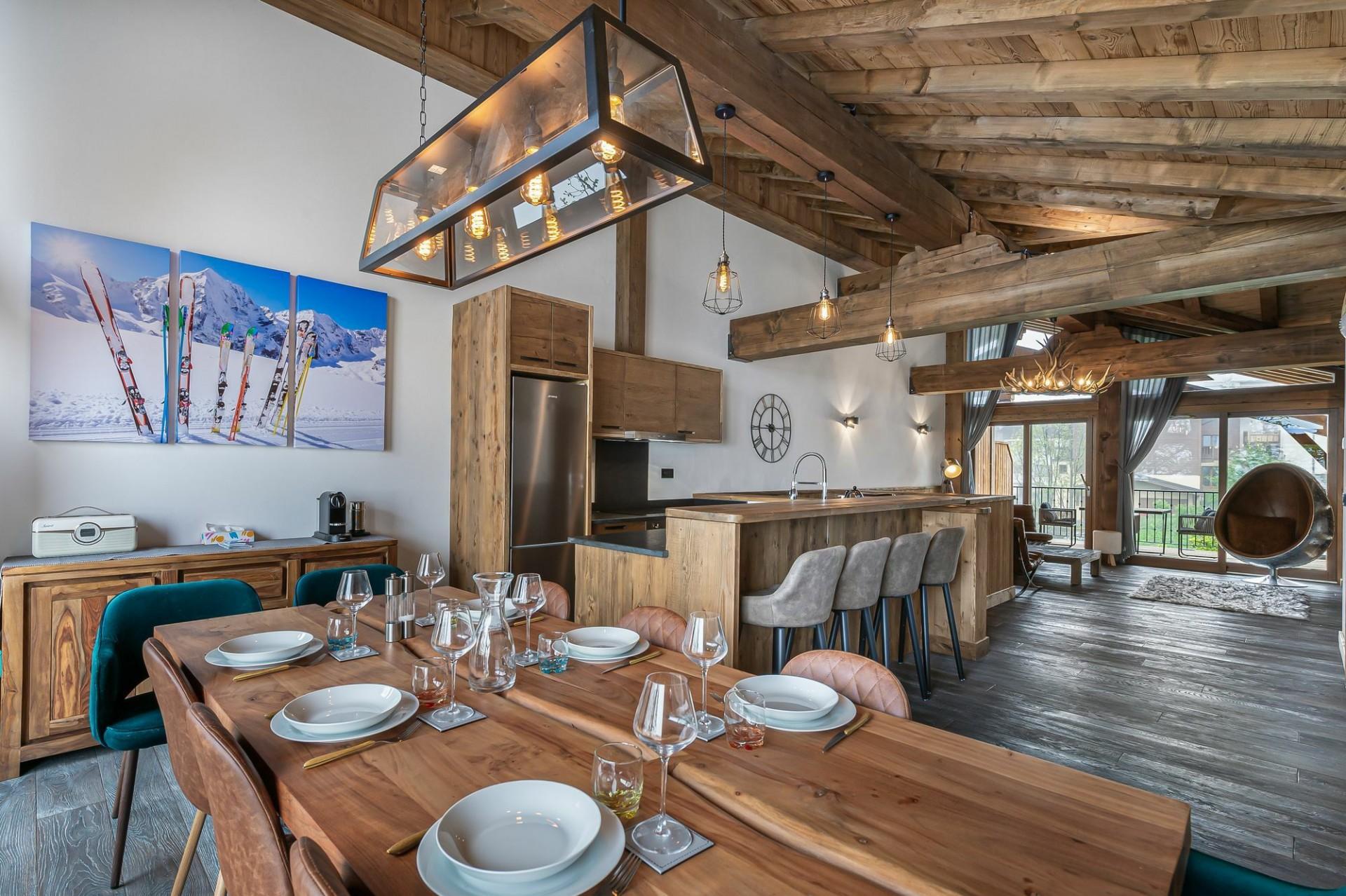 Courchevel 1300 Location Appartement Luxe Tilante Salle A Manger 2