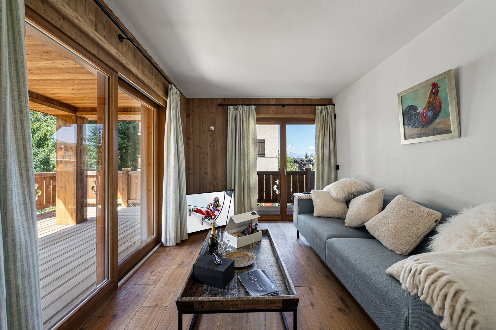 Courchevel 1300 Luxury Rental Appartment Tilite Living Room