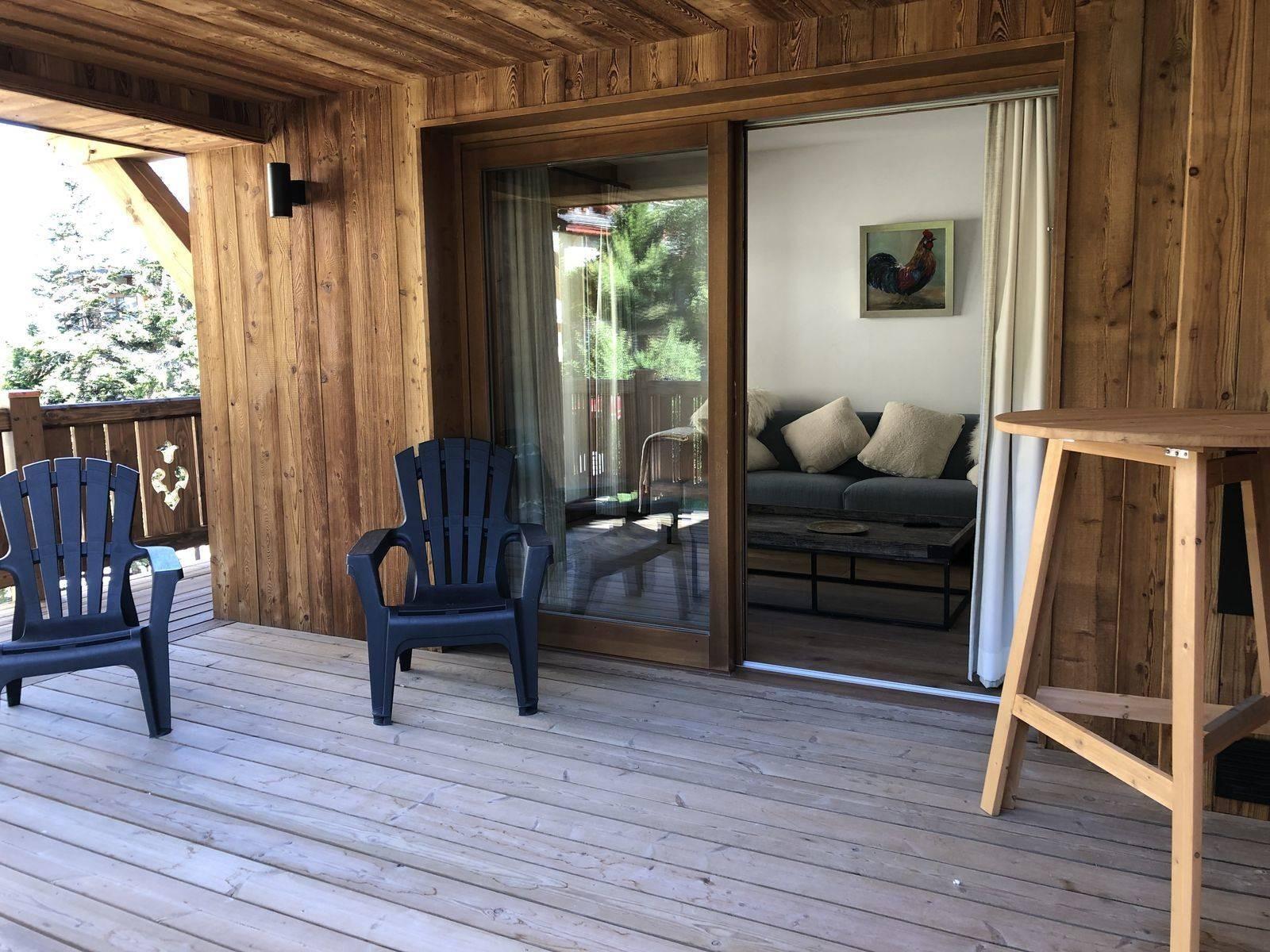 Courchevel 1300 Luxury Rental Appartment Tilite Terrasse 2