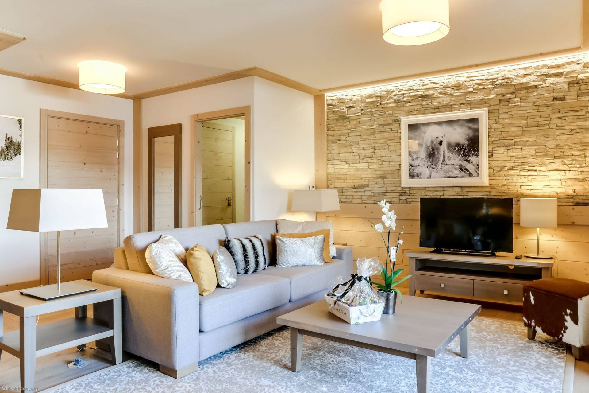Courchevel 1550 Luxury Rental Appartment Telamite Living Room 2