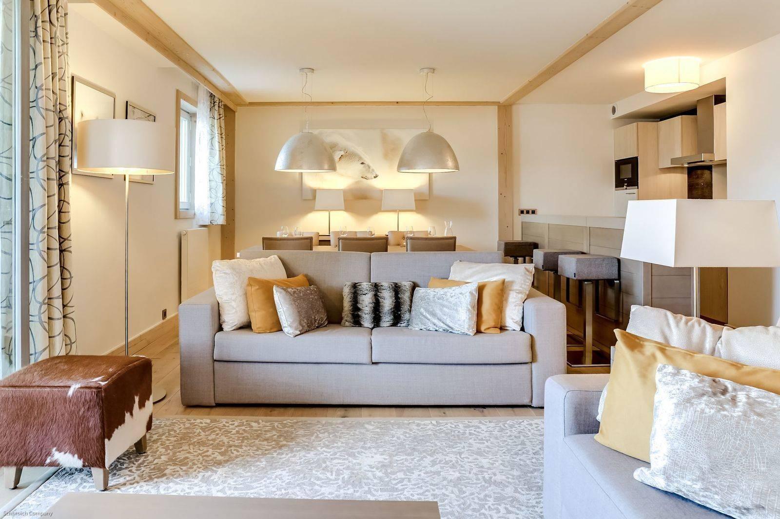Courchevel 1550 Luxury Rental Appartment Telamite Living Room 4