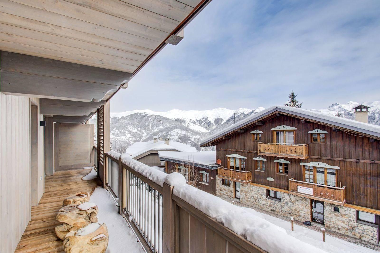 Courchevel 1550 Location Appartement Luxe Telimite Balcon