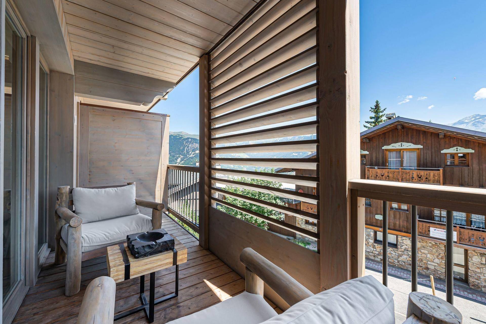 Courchevel 1550 Location Appartement Luxe Telimite Balcon 2