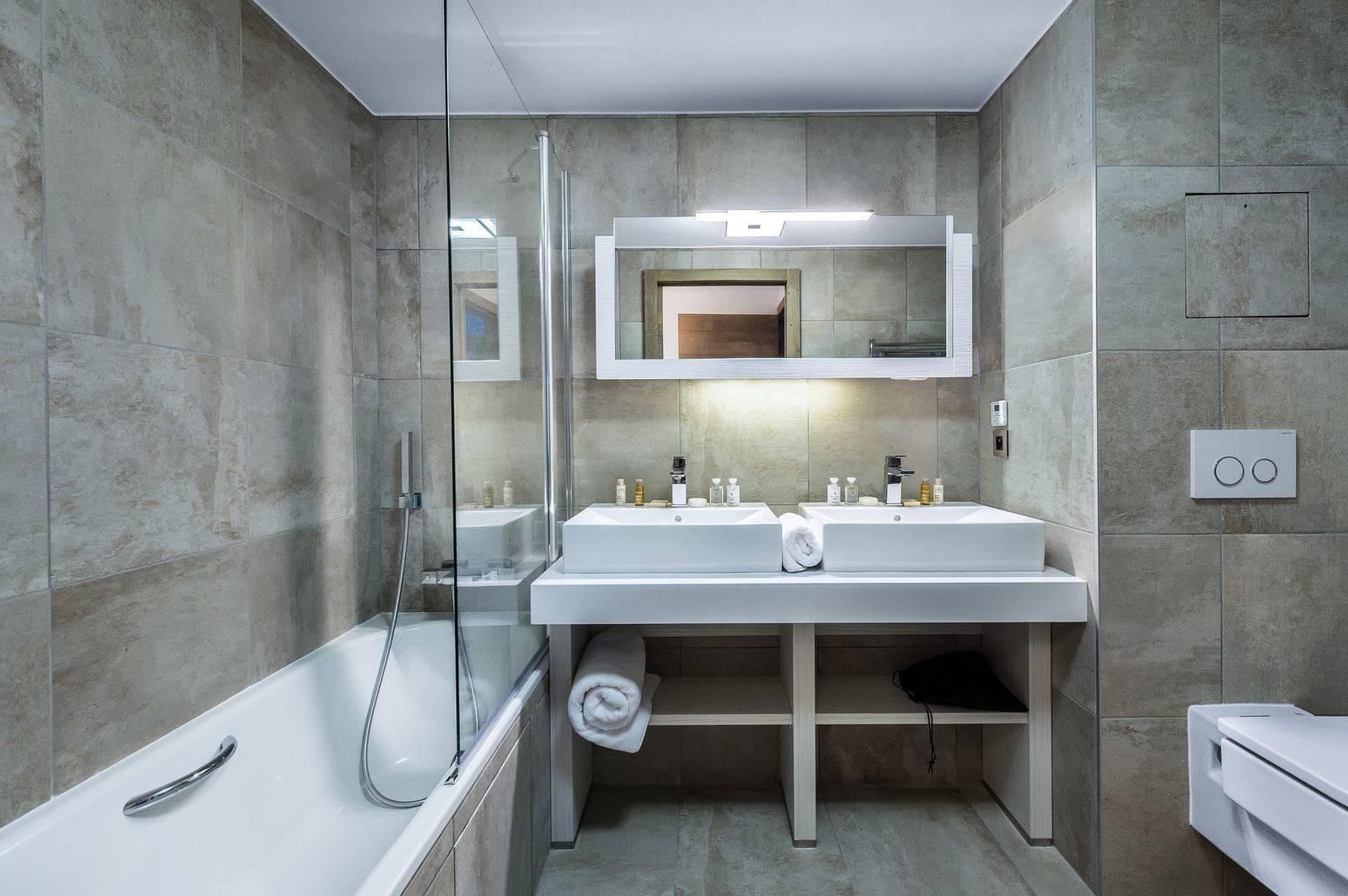 Courchevel 1550 Location Appartement Luxe Telokia Salle De Bain