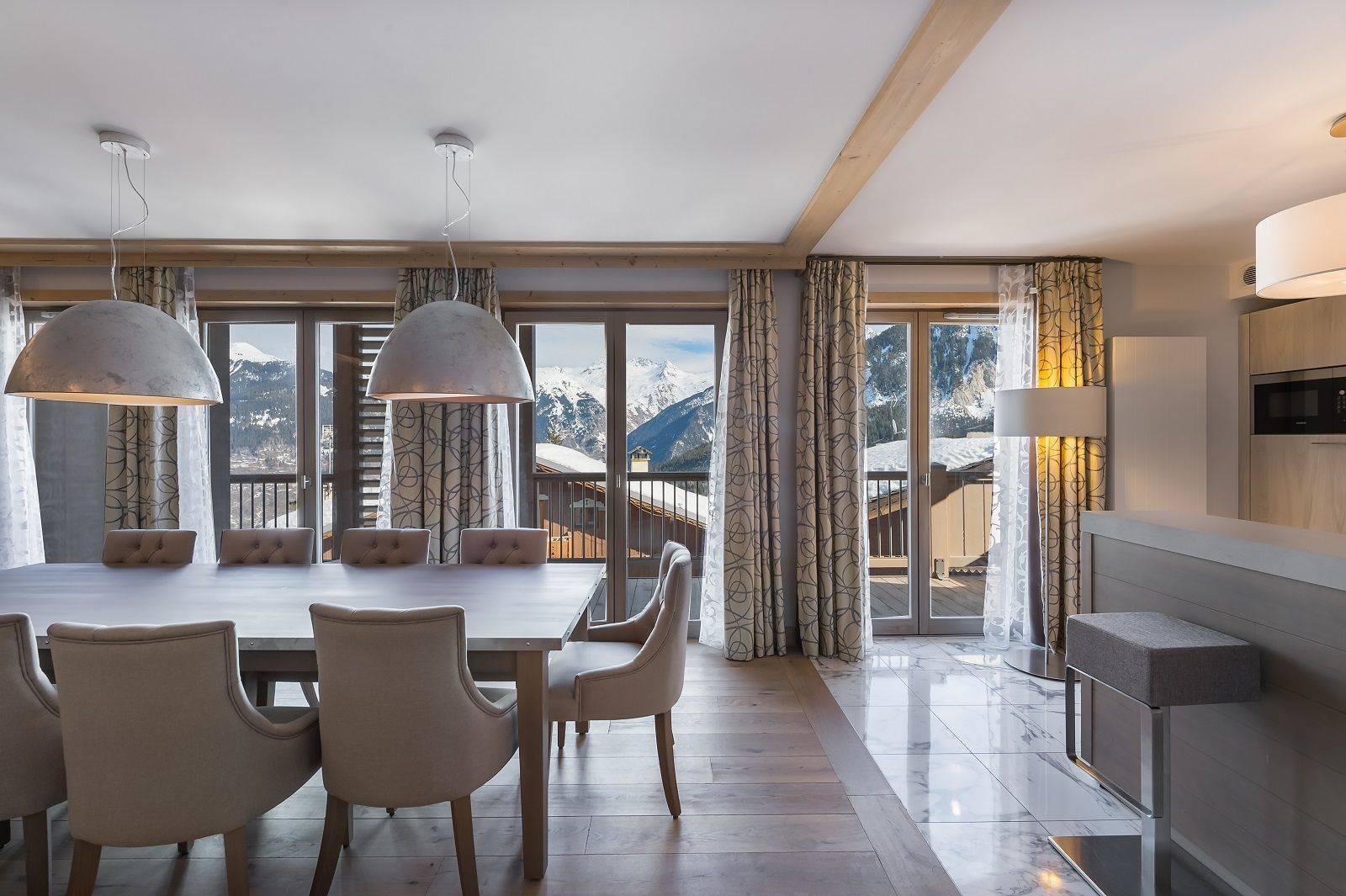 Courchevel 1550 Location Appartement Luxe Telumite Salle A Manger