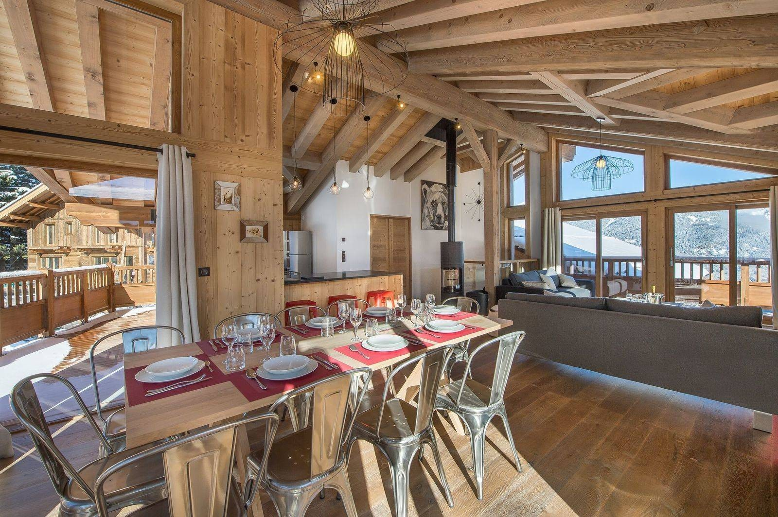 Courchevel 1550 Location Chalet Luxe Nibite Salle A Manger 2