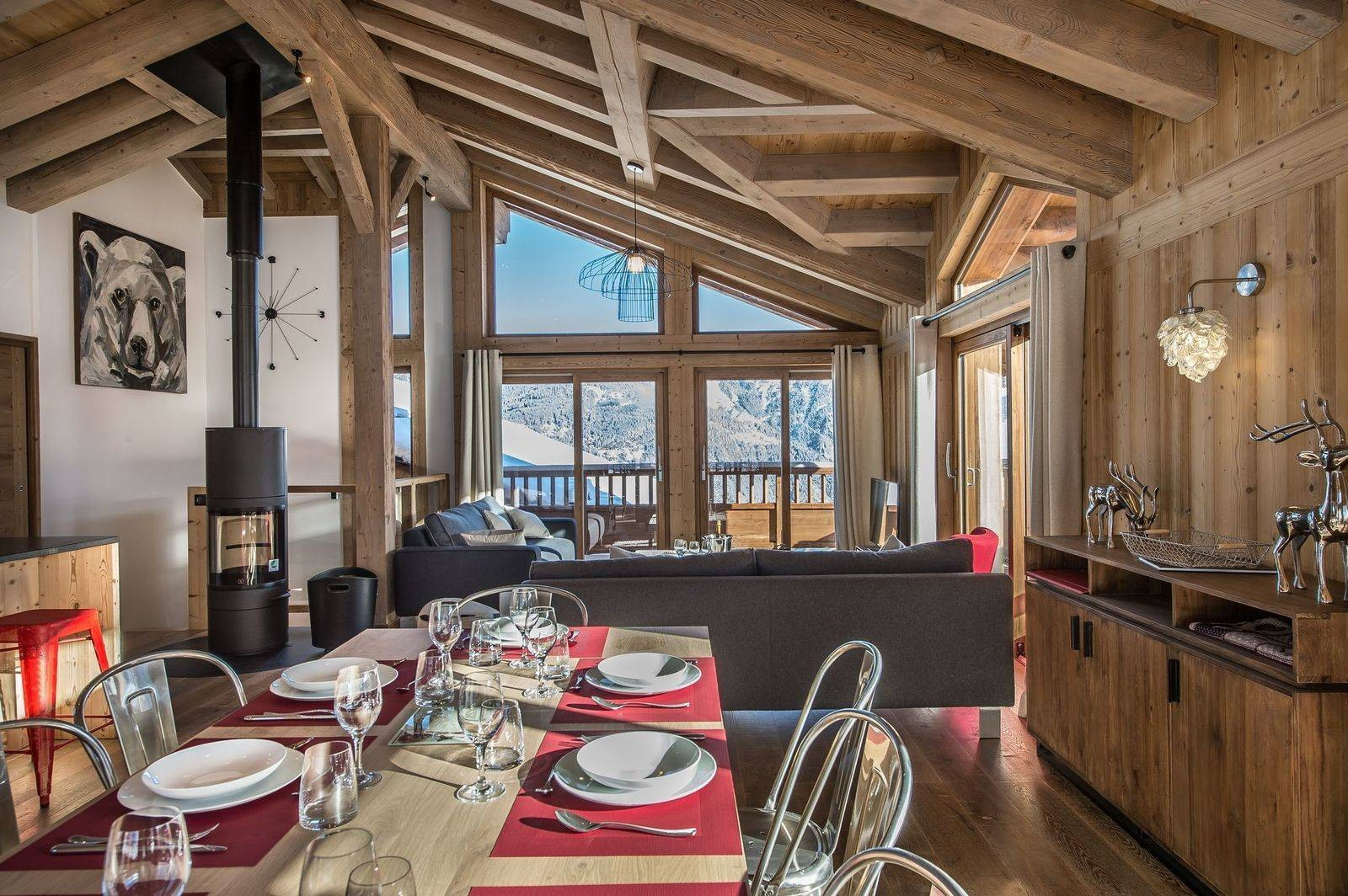 Courchevel 1550 Location Chalet Luxe Nibite Salle A Manger 3