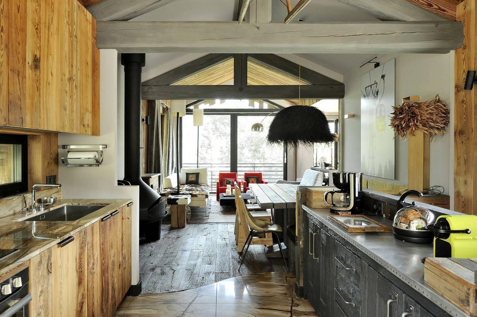 Courchevel 1550 Luxury Rental Chalet Niibite Kitchen