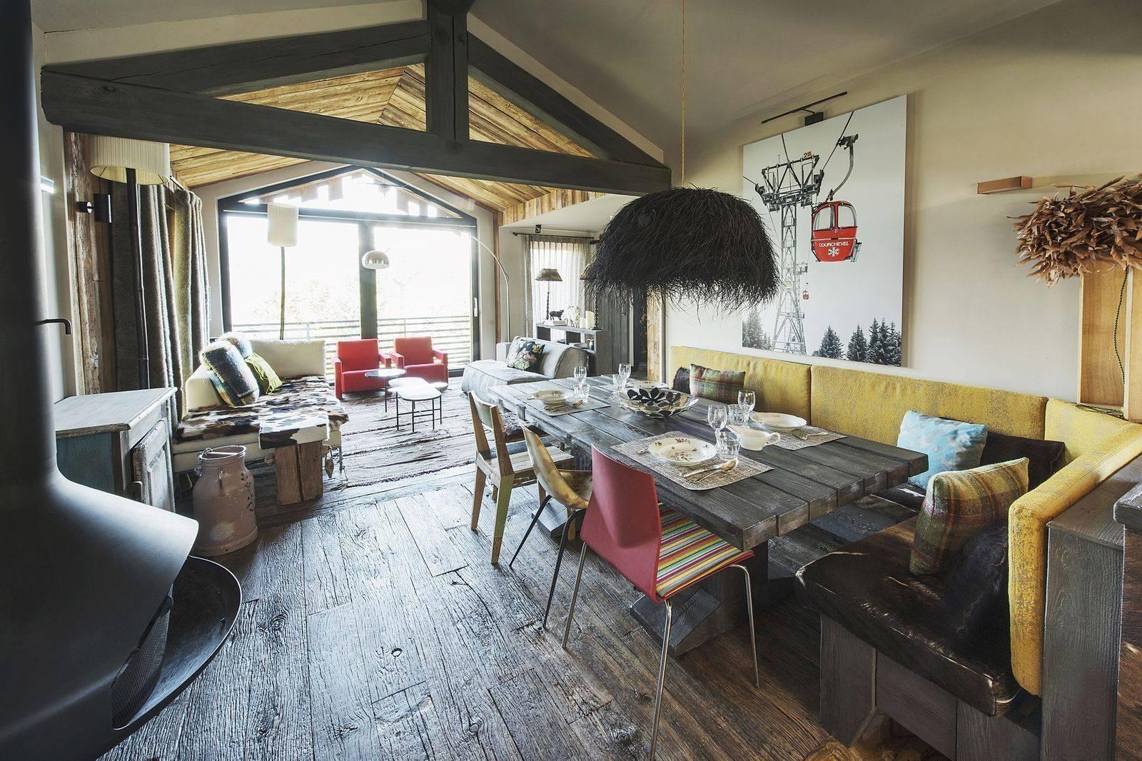 Courchevel 1550 Luxury Rental Chalet Niibite Dining Room