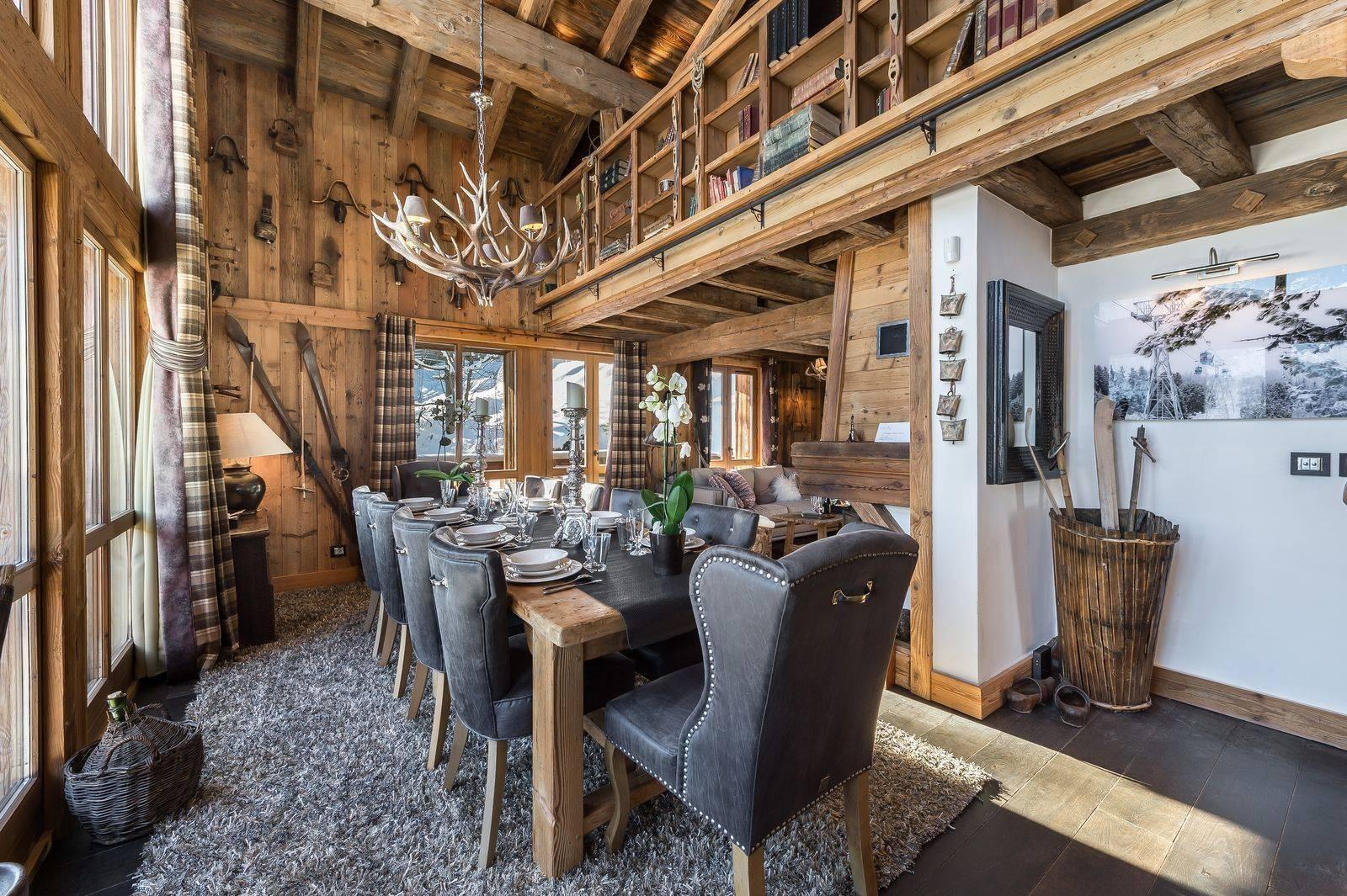 Courchevel 1550 Luxury Rental Chalet Niobite Dining Room