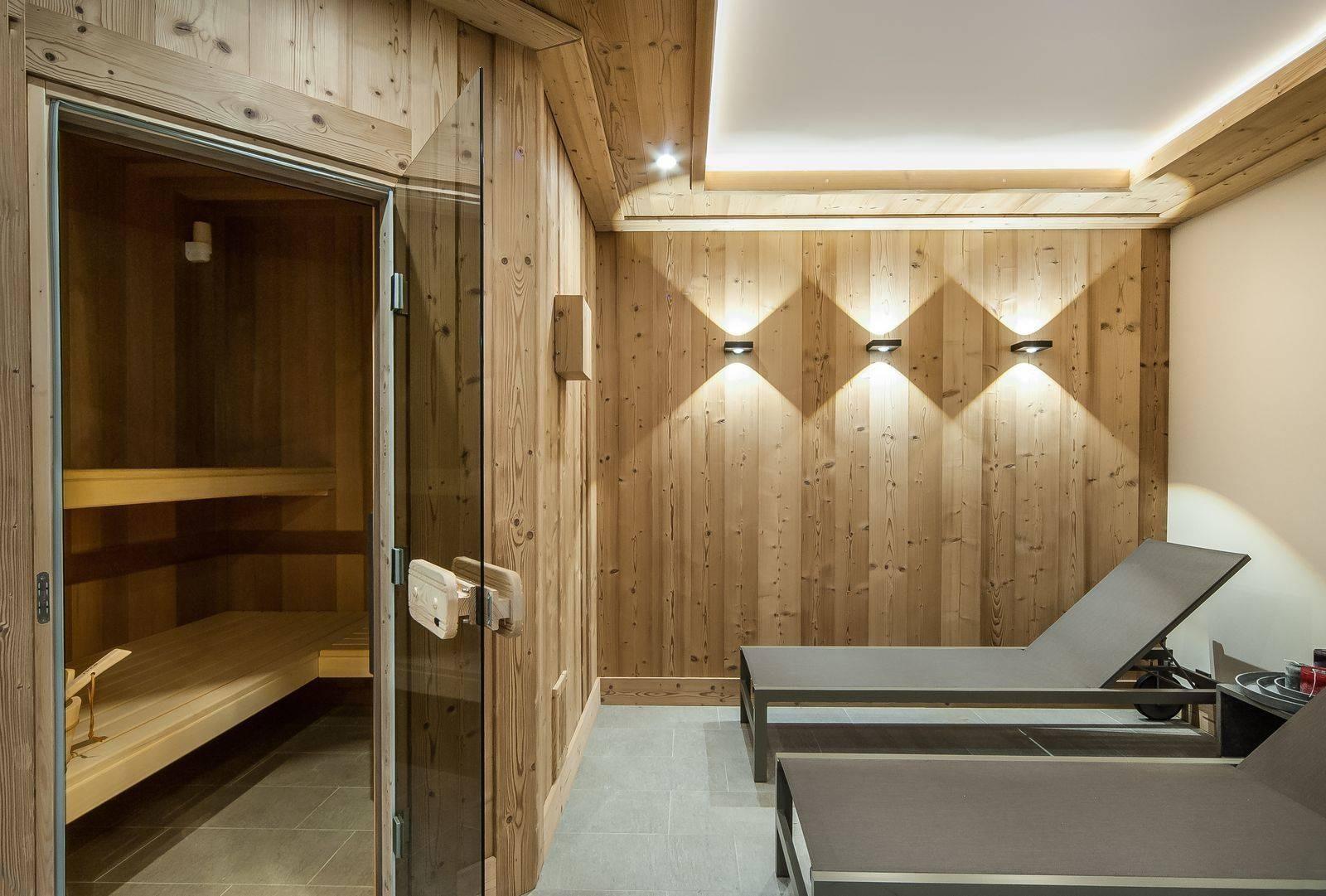 Courchevel 1550 Location Chalet Luxe Niurer Sauna