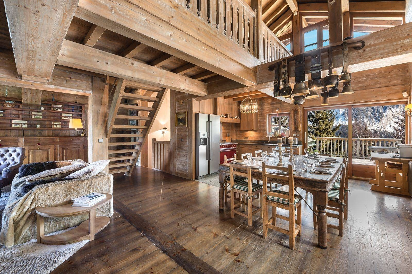 Courchevel 1550 Location Chalet Luxe Tazoy Salle A Manger 2