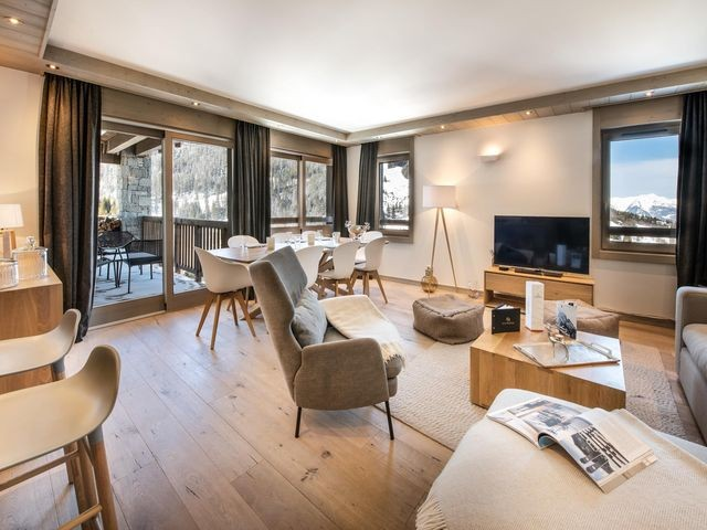 Courchevel 1650 Luxury Rental Appartment Agrelite Living Room