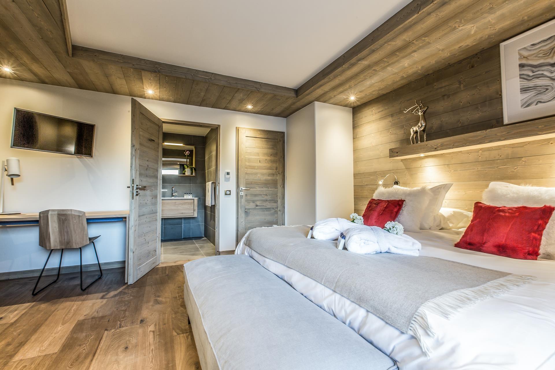 Courchevel 1650 Location Appartement Luxe Akorlonte Chambre 2