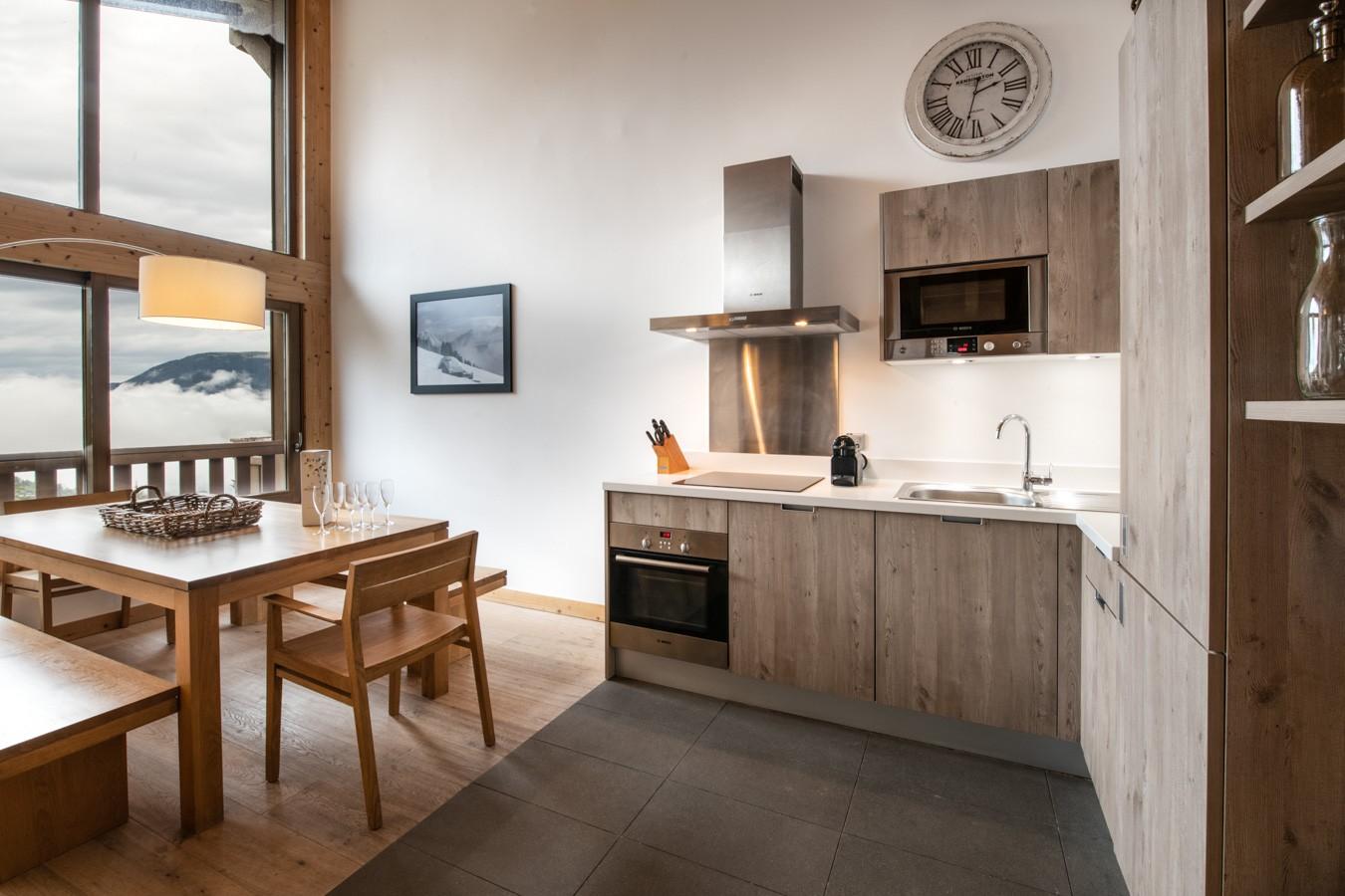 Courchevel 1650 Location Appartement Luxe Allanite Cuisine