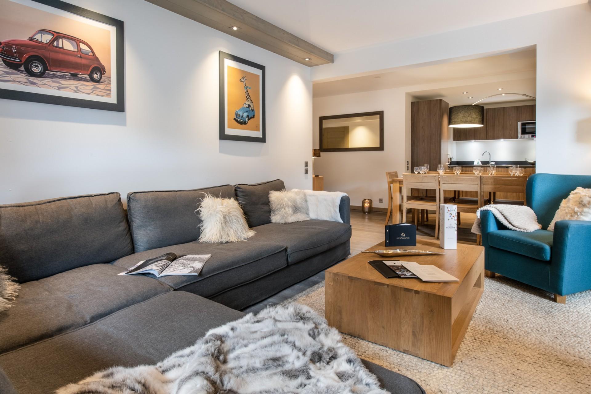Courchevel 1650 Location Appartement Luxe Alsolite Séjour 2