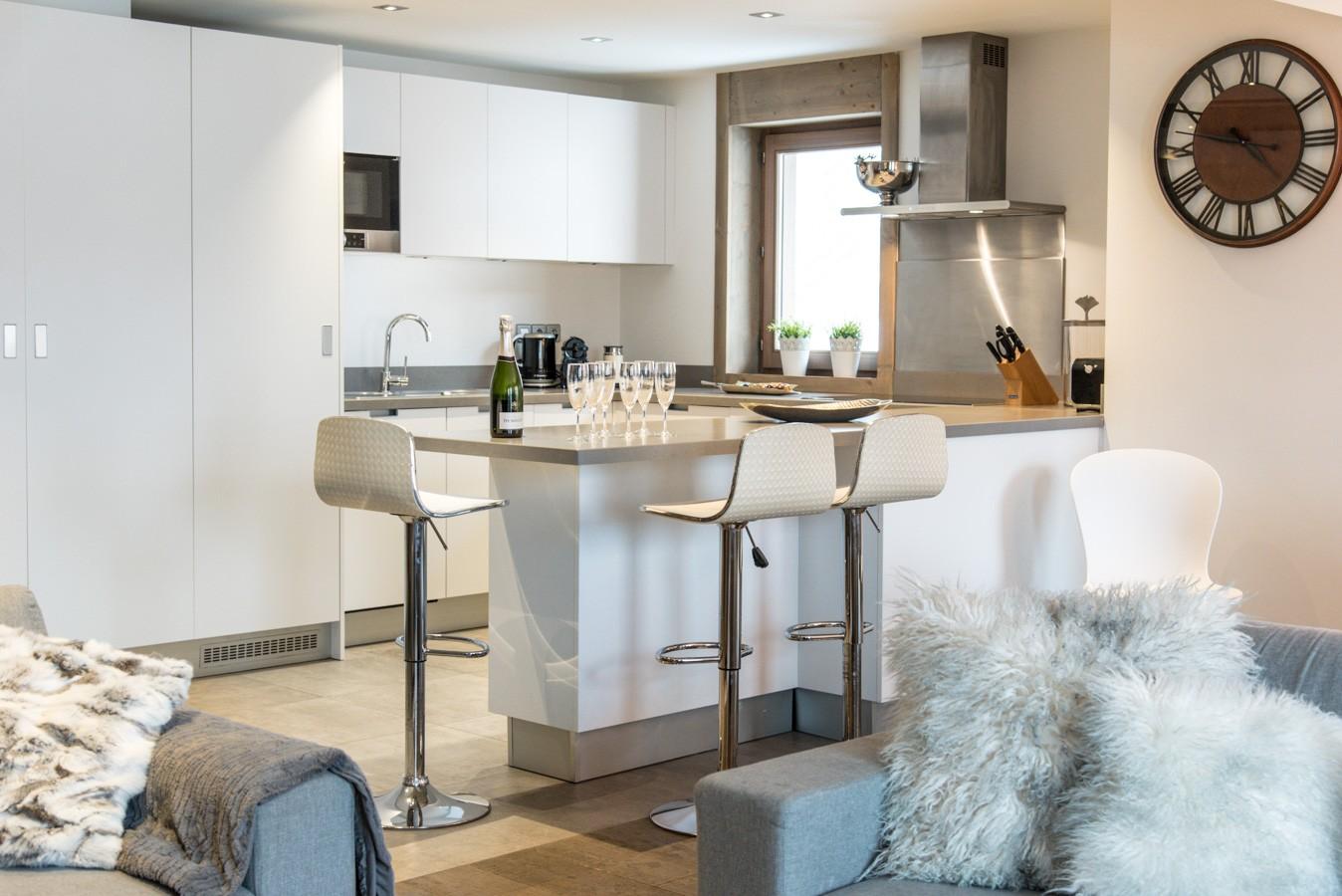 Courchevel 1650 Location Appartement Luxe Aluminite Cuisine