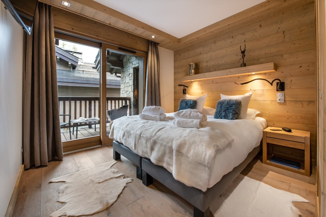 Courchevel 1650 Location Appartement Luxe Amethyste Chambre