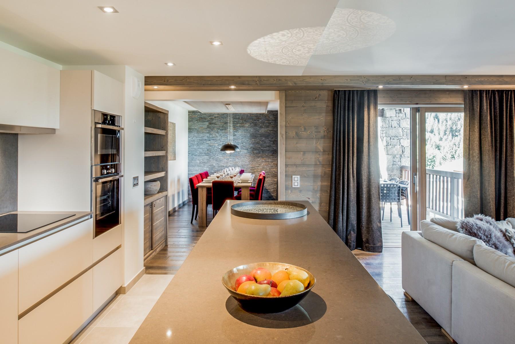 Courchevel 1650 Location Appartement Luxe Amurile Cuisine