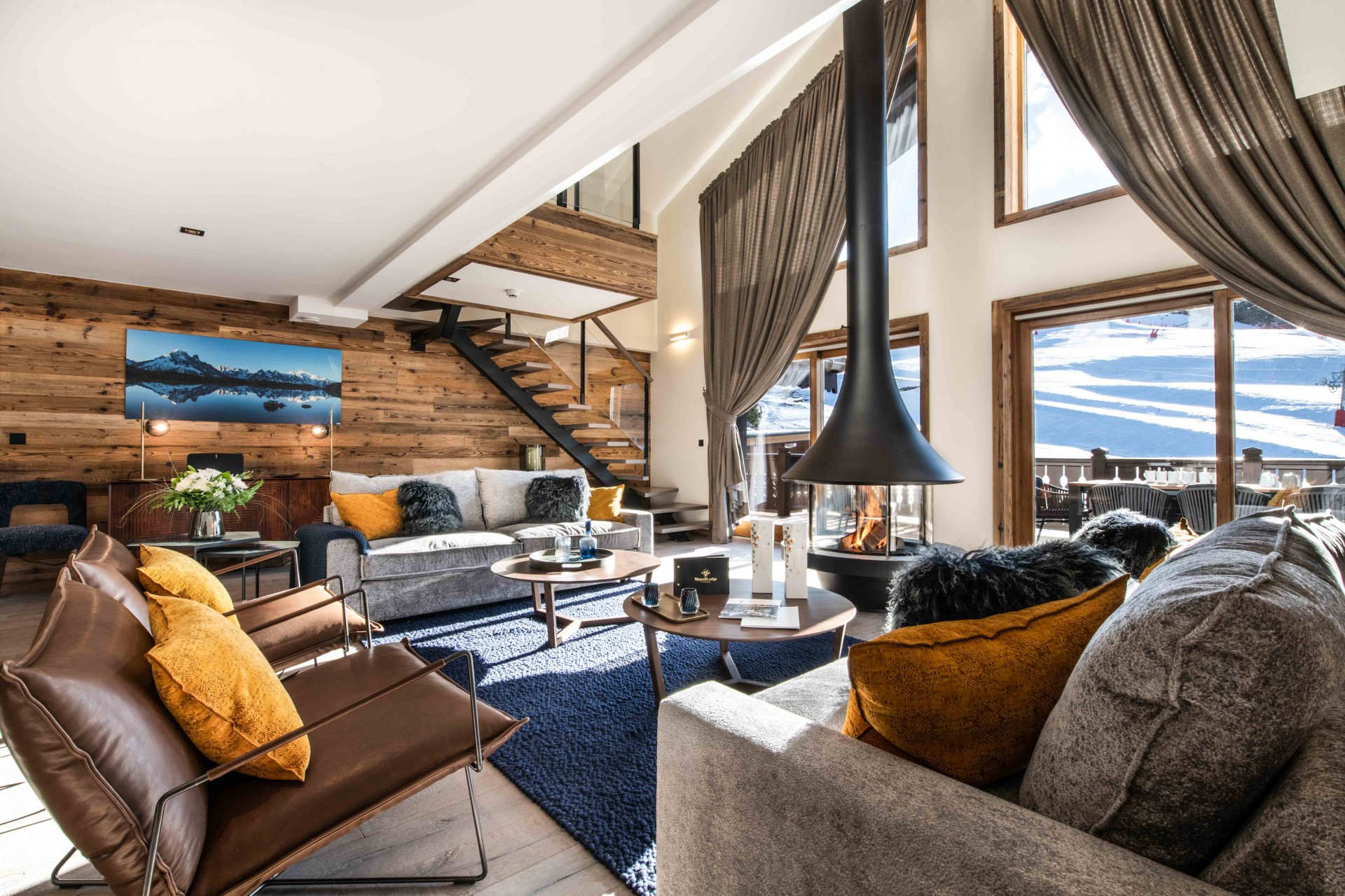 Courchevel 1650 Luxury Rental Appartment Aurylite Living Room