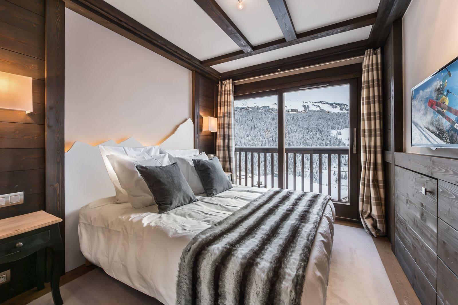 Courchevel 1650 Luxury Rental Appartment Neroflier Bedroom