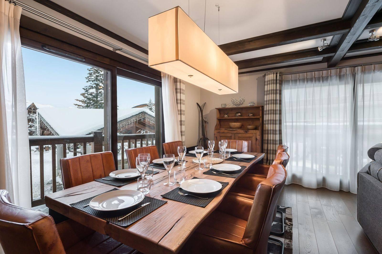 Courchevel 1650 Luxury Rental Appartment Neroflier Dining Room