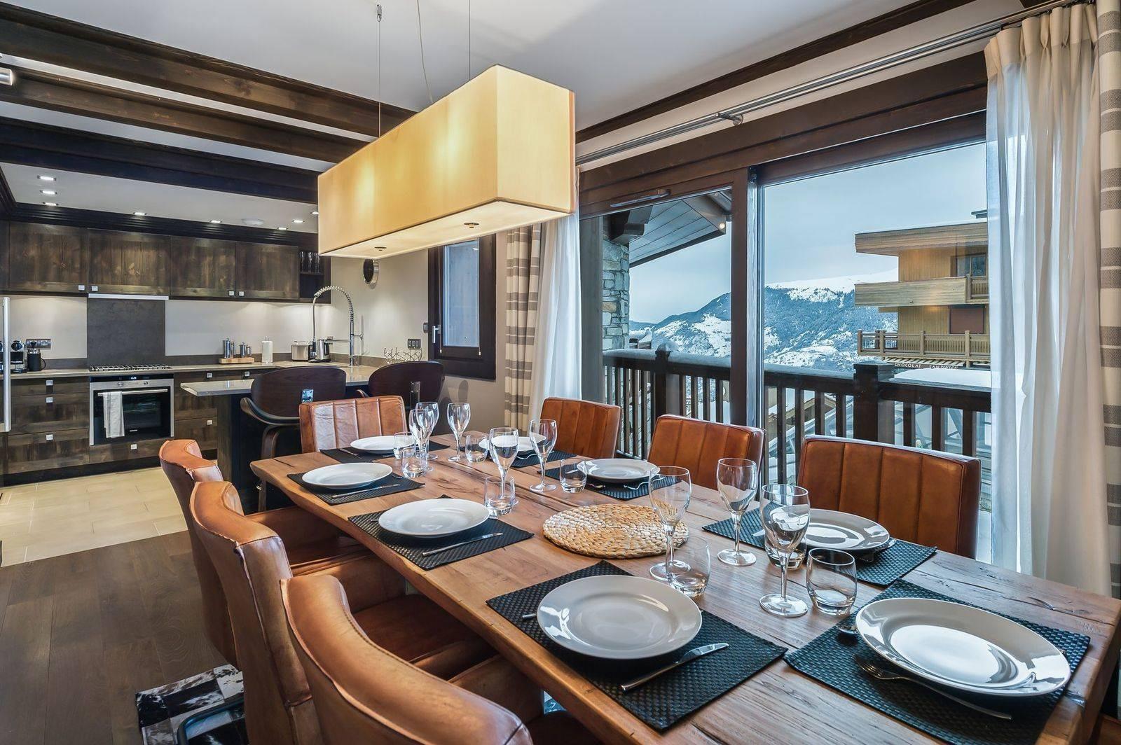 Courchevel 1650 Luxury Rental Appartment Neroflier Dining Room 2
