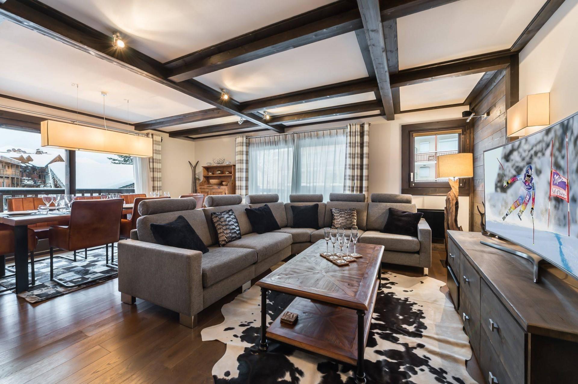 Courchevel 1650 Luxury Rental Appartment Neroflier Living Room
