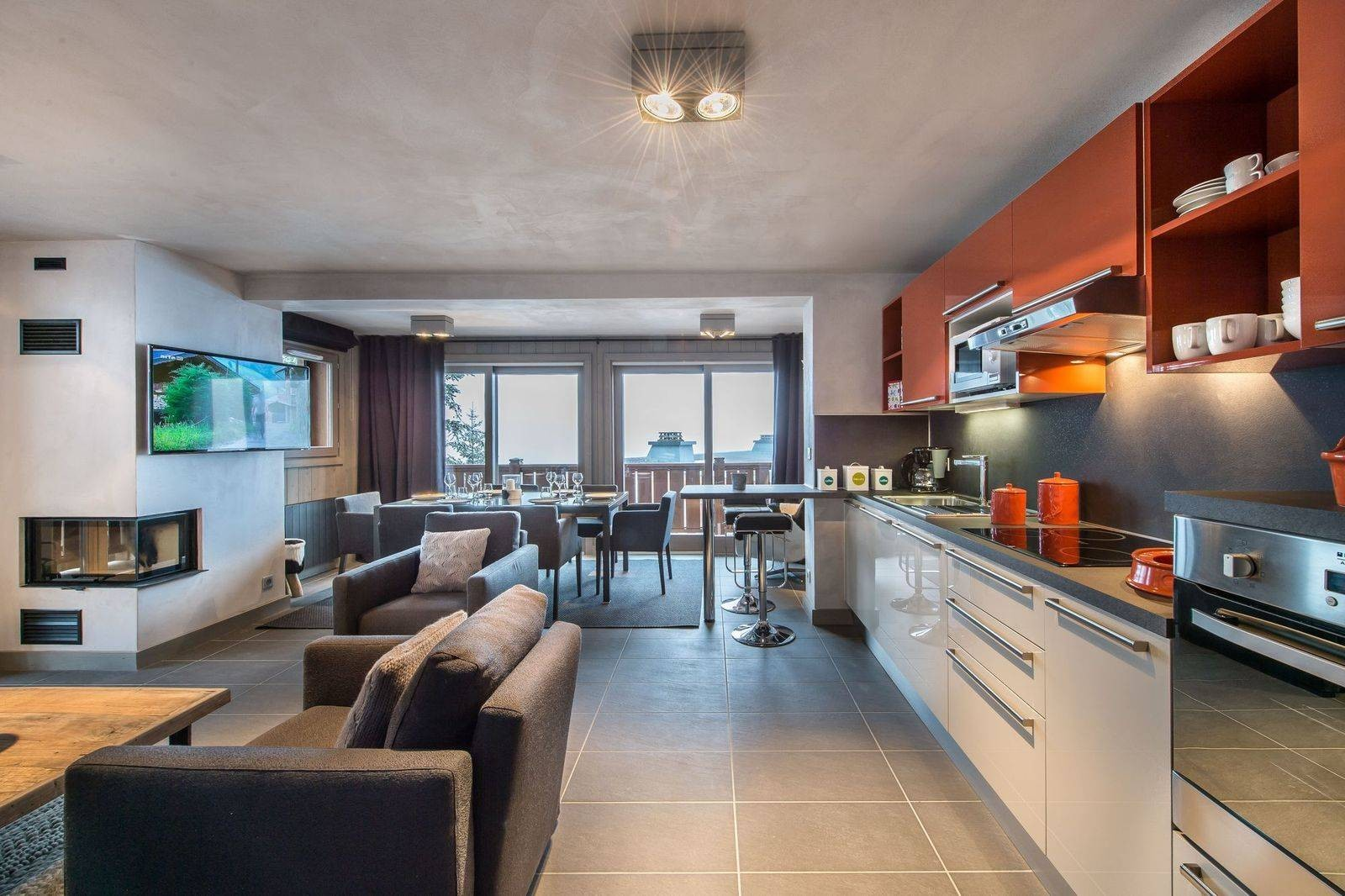 Courchevel 1650 Location Appartement Luxe Simeline Cuisine