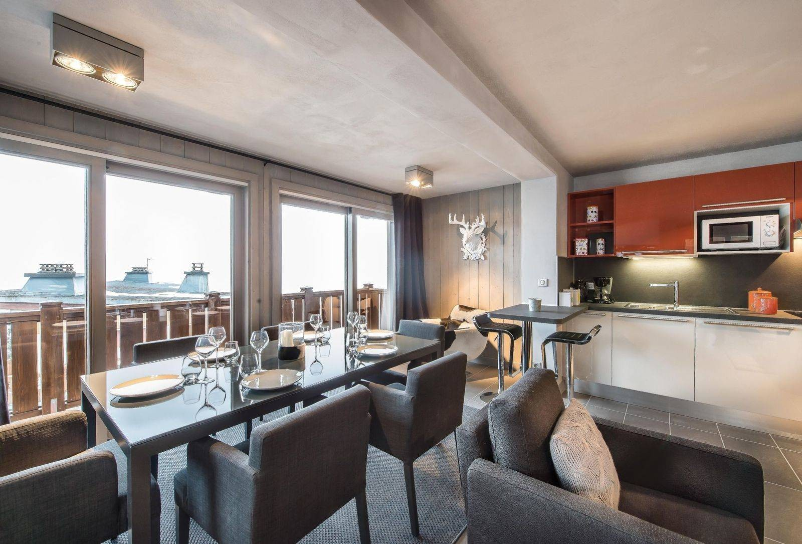 Courchevel 1650 Location Appartement Luxe Simeline Salle A Manger