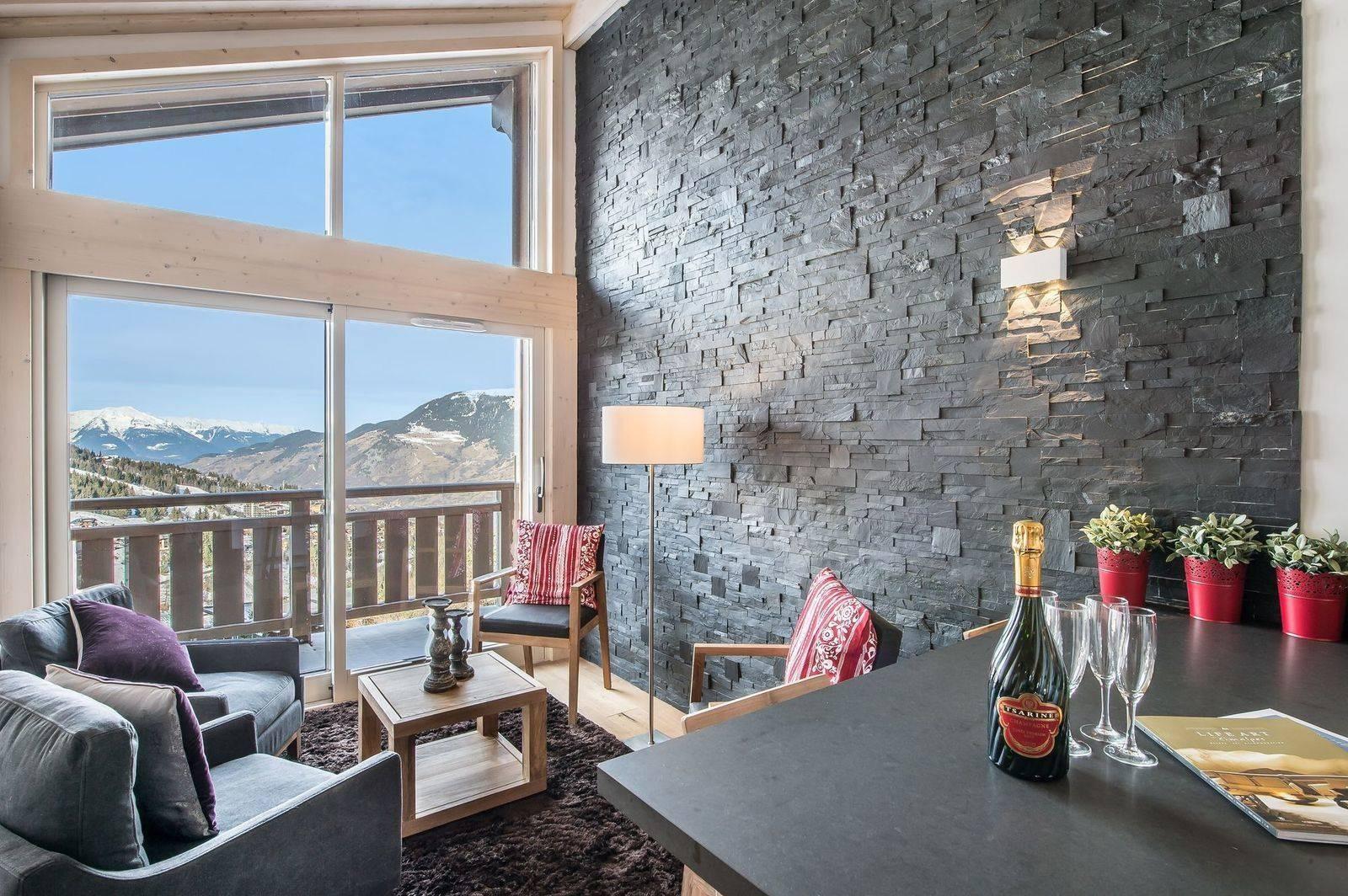 Courchevel 1650 Location Appartement Luxe Tengerite Séjour 2