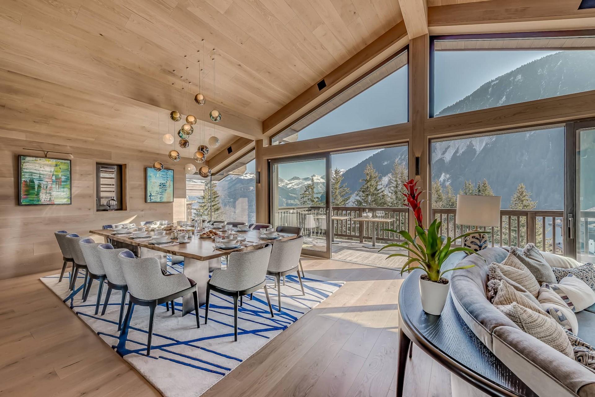 Courchevel 1650 Luxury Rental Chalet Elana Dining Room
