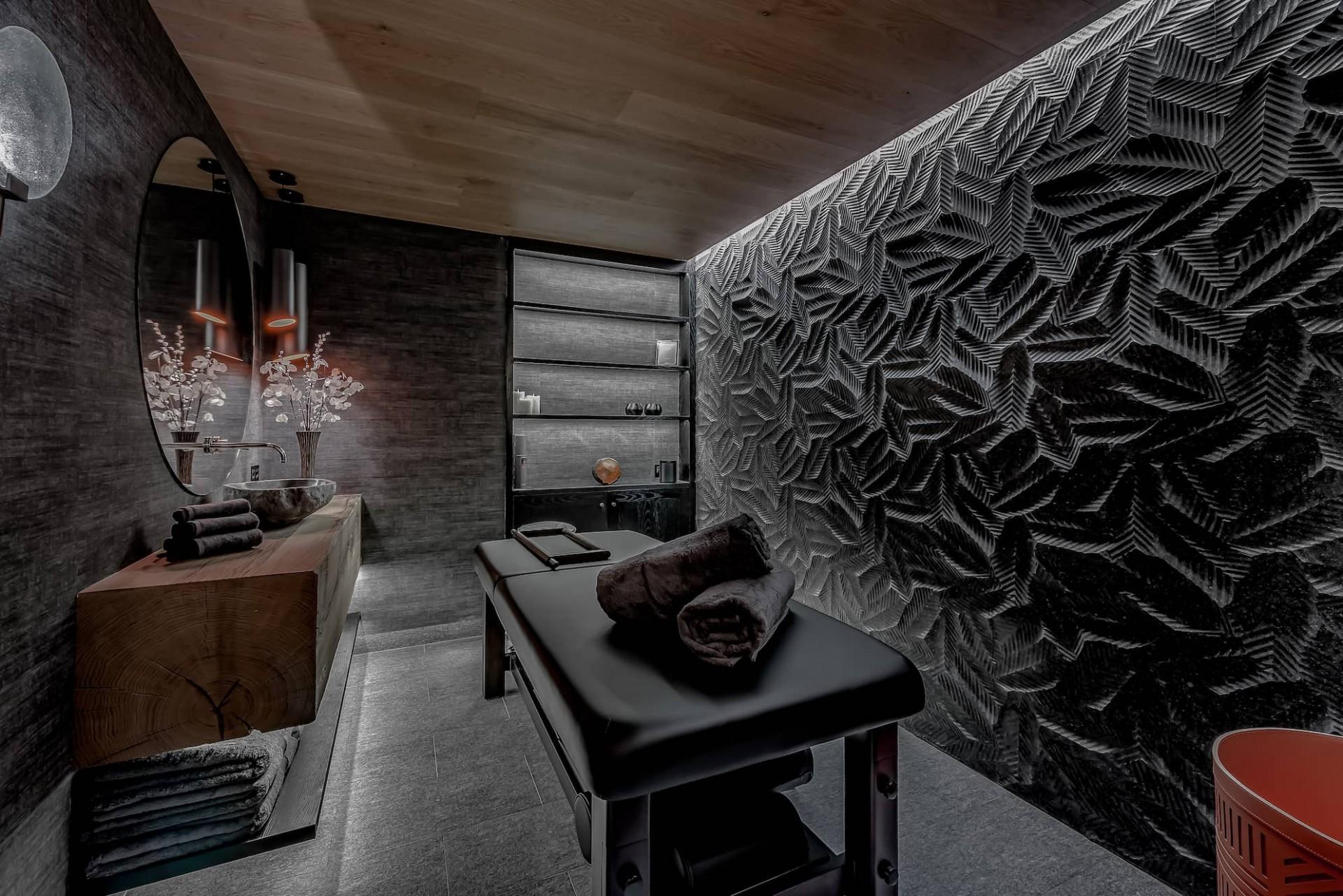 Courchevel 1650 Luxury Rental Chalet Elana Massage Room