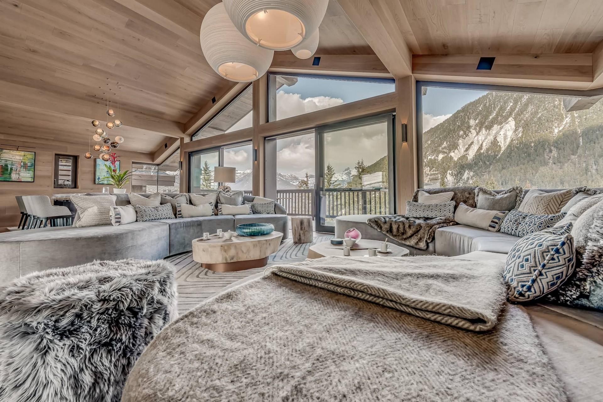 Courchevel 1650 Luxury Rental Chalet Elana Living Room