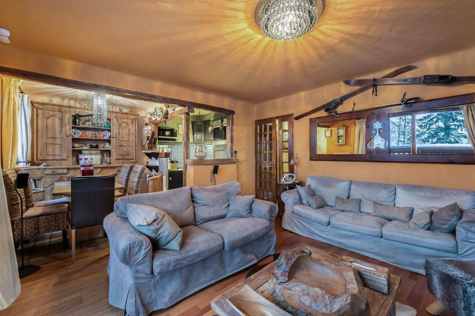 Courchevel 1850 Luxury Rental Appartment Calomel Living Room 4